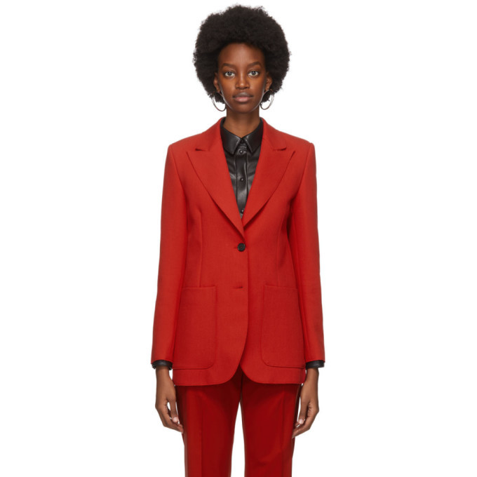 Photo: MSGM Red Double Pocket Blazer
