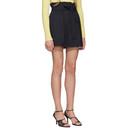 3.1 Phillip Lim Navy Paperbag Waist Shorts