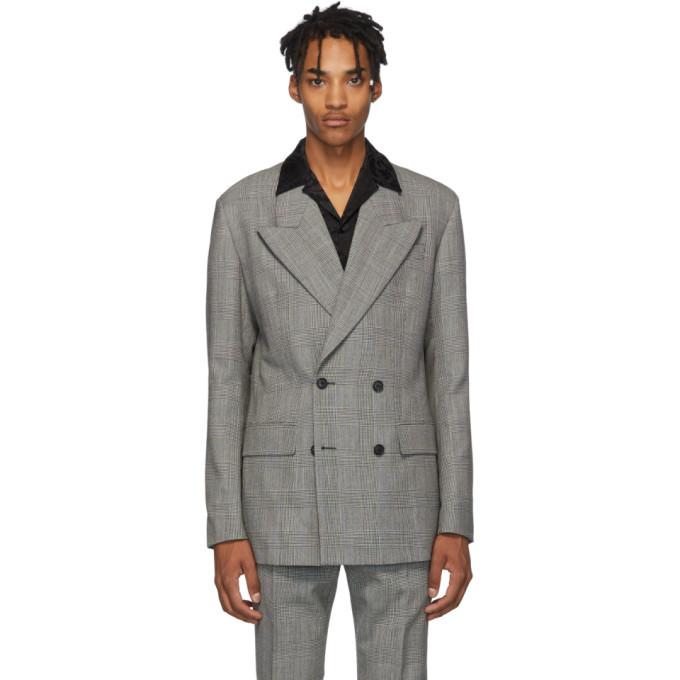 Photo: Versace Black and White Double Breasted Blazer