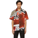 Dunhill Red Abrasion Lounge Short Sleeve Shirt