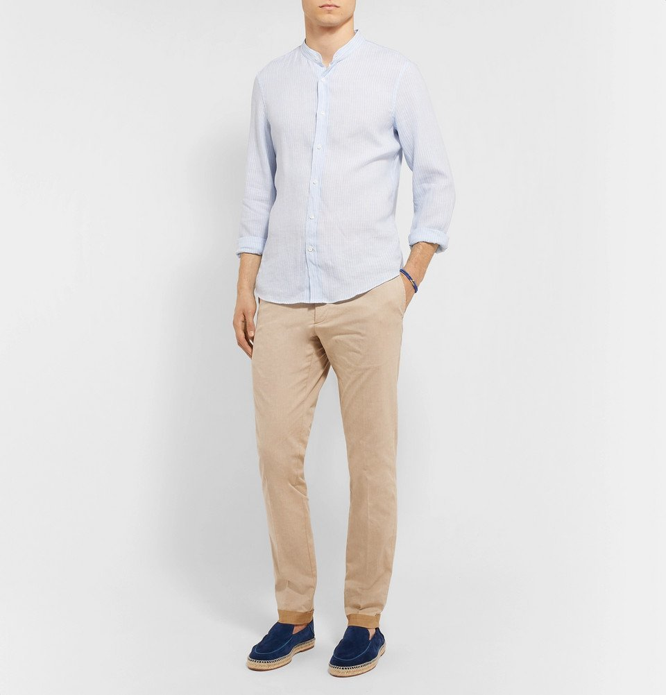 Tod's - Tapered Solaro Cotton-Blend Twill Trousers - Beige