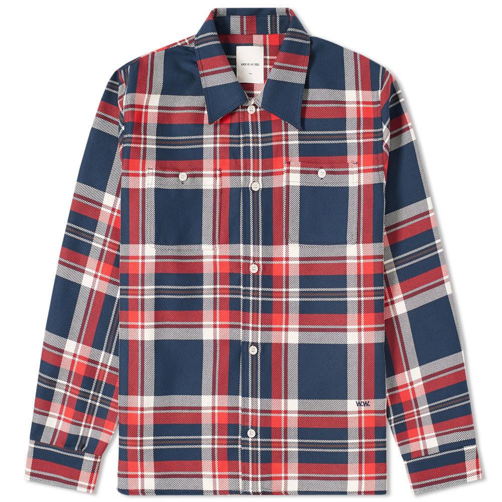 Photo: Wood Wood Franco Check Overshirt