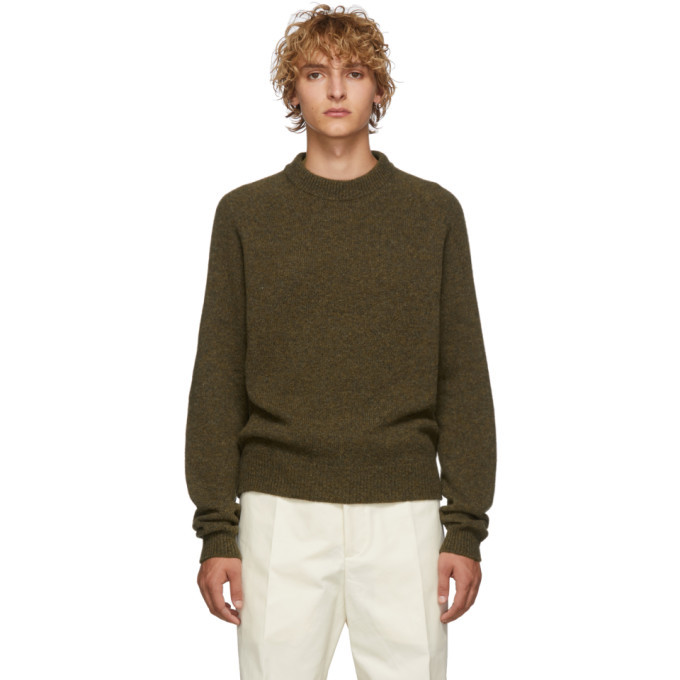 Photo: Lemaire Khaki Crewneck Sweater