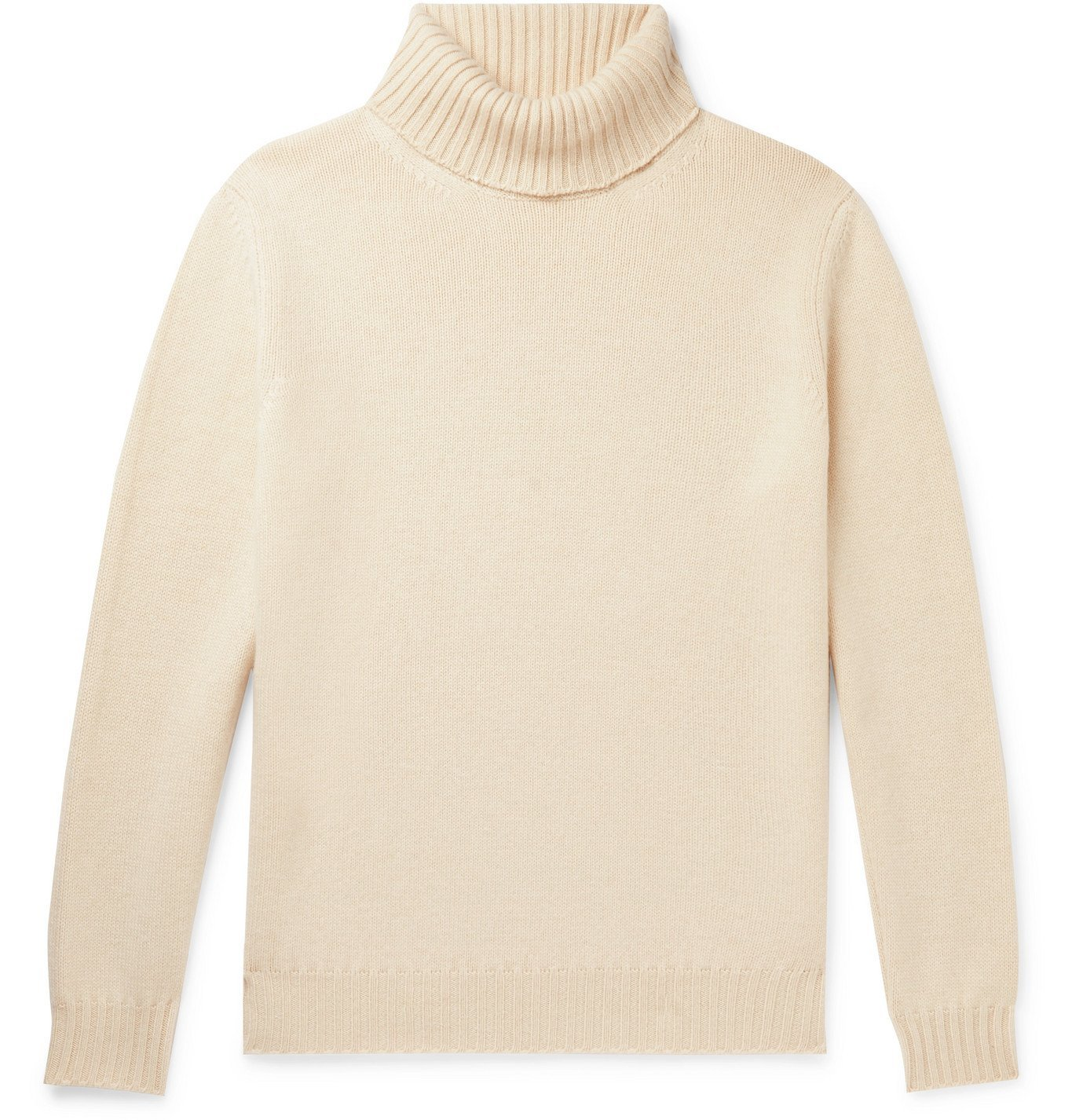 Photo: Saman Amel - Cashmere Rollneck Sweater - Neutrals