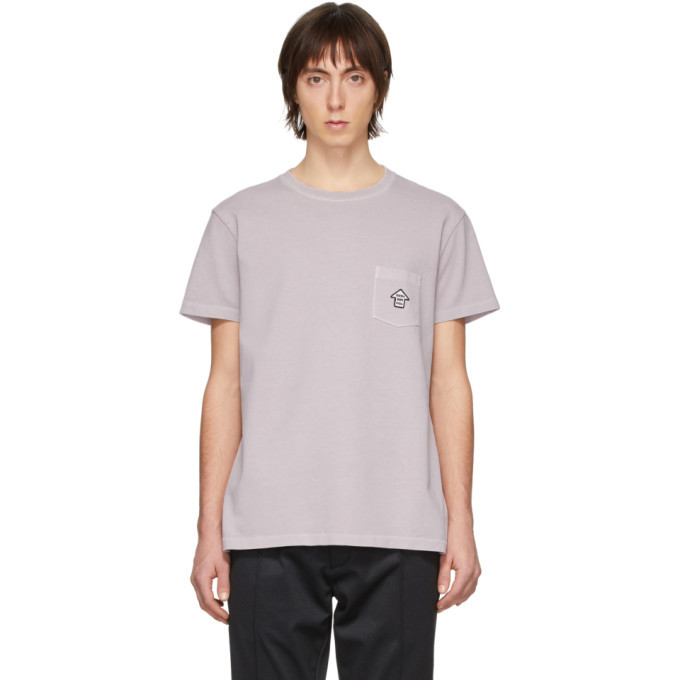 Photo: Schnaydermans Purple Garment-Dyed Jersey You Are Here T-Shirt