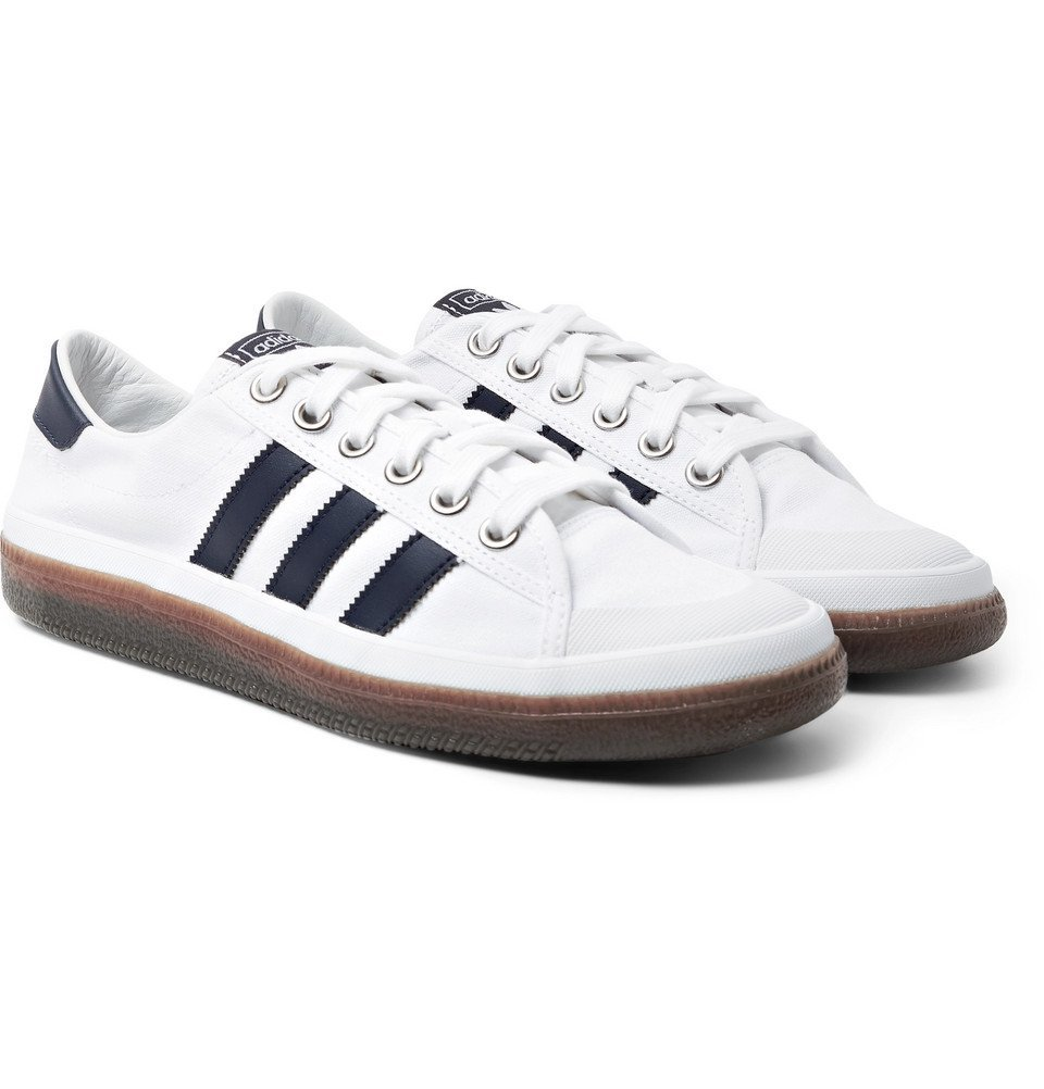 Photo: adidas Consortium - SPEZIAL Norfu Leather-Trimmed Canvas Sneakers - White