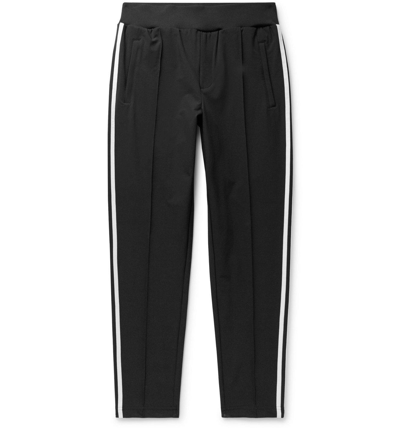 Photo: adidas Consortium - SPEZIAL Pleckgate Tapered Striped Shell Track Pants - Black