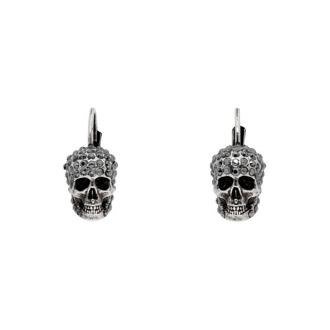Photo: Alexander McQueen Silver Skull Hoop Earrings