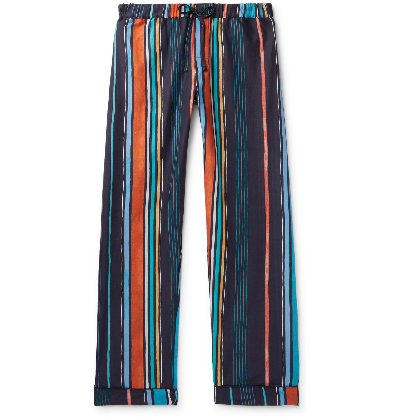 Photo: Desmond & Dempsey - Striped Cotton Pyjama Trousers - Multi