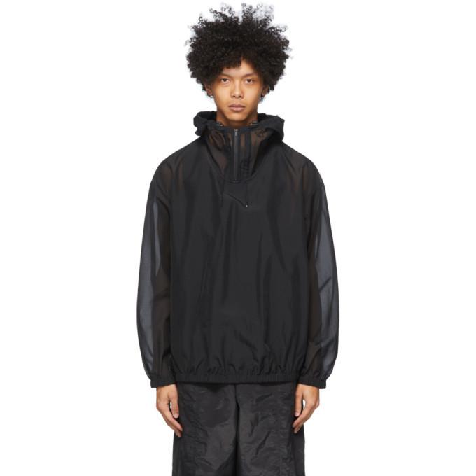 Photo: Y-3 Black Swim Hooded Jacket