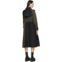Sacai Navy and Khaki Belted Suiting Trench Coat