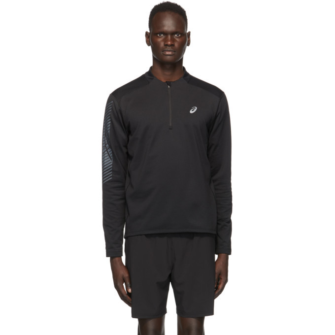 Asics Black Icon Winter Half-Zip Sweatshirt