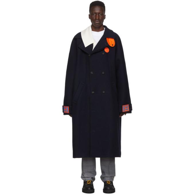 Photo: Off-White Navy Oversized Coat
