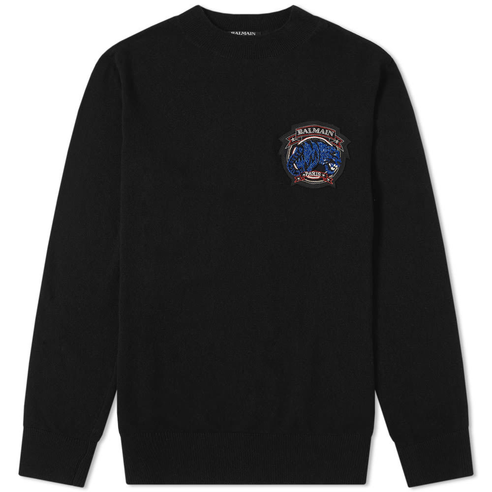 Balmain Tiger Badge Knit