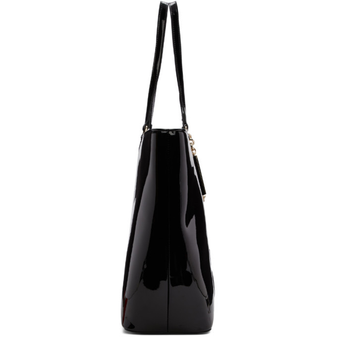 Versace Jeans Couture Black Patent Logo Tote
