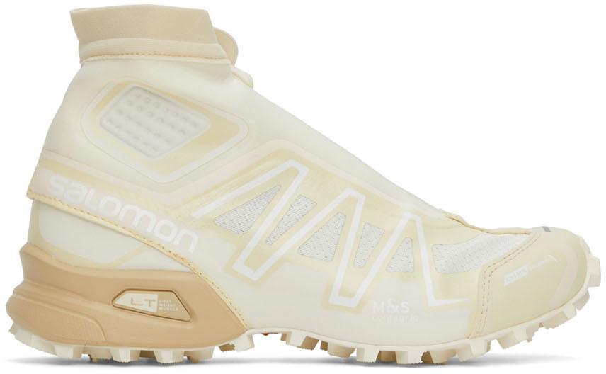 Photo: Salomon Off-White & Beige Snowcross Advanced Sneakers