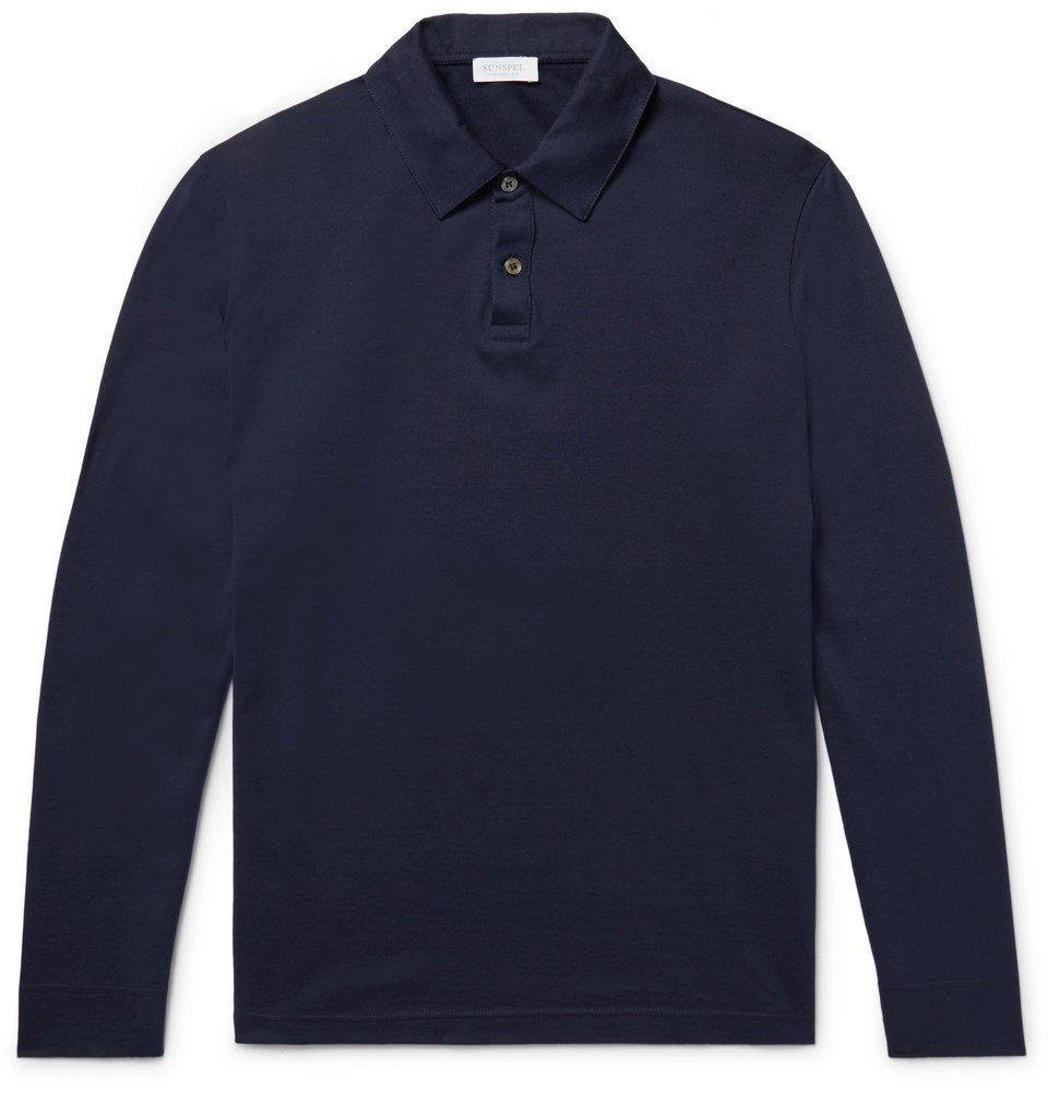 Sunspel - Cotton-Jersey Polo Shirt - Men - Blue