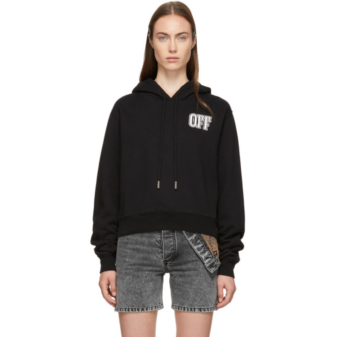 Photo: Off-White Black Lips Cropped Hoodie