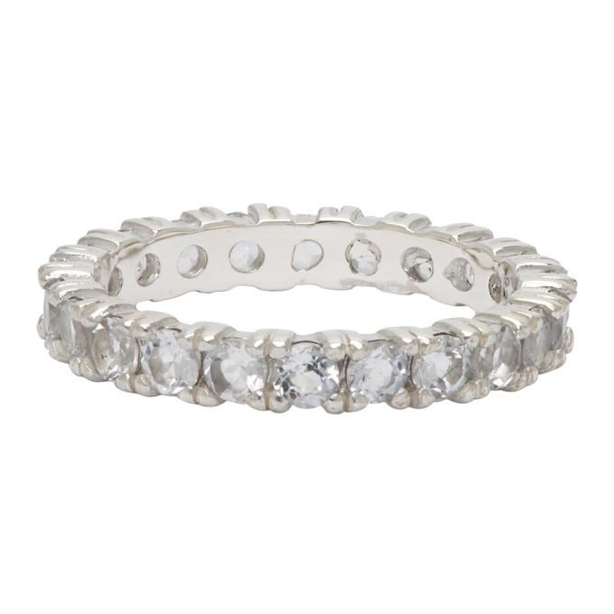 Photo: Hatton Labs Silver Topaz Eternity Ring