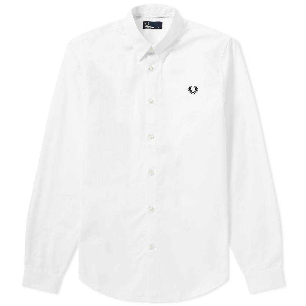 Photo: Fred Perry Button Down Shirt White