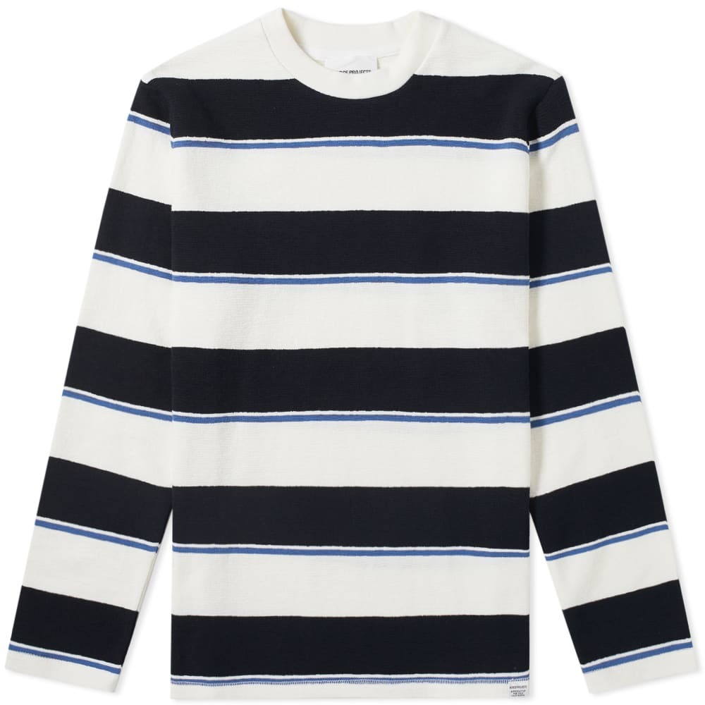 Photo: Norse Projects Long Sleeve Johannes Textured Stripe Tee