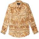 Martine Rose - Oversized Printed Plissé-Crepe Shirt - Neutrals