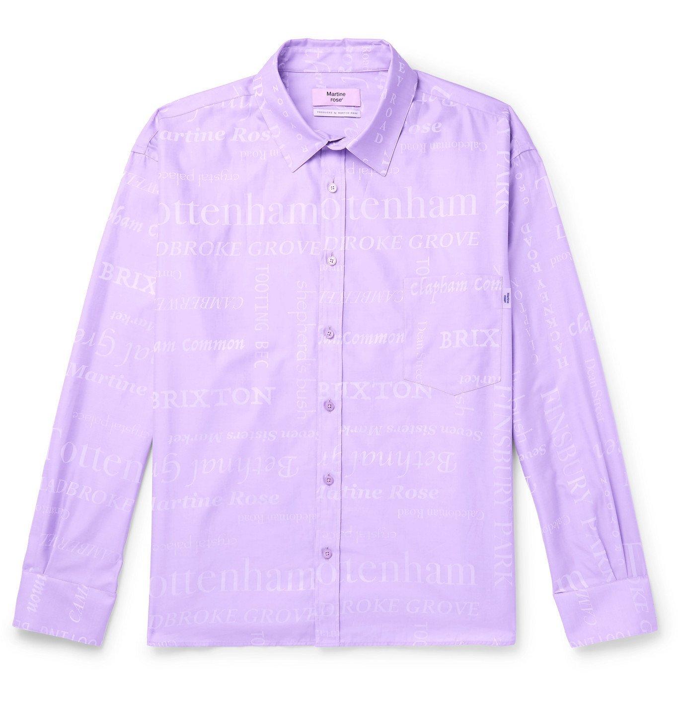 Martine Rose - Cotton-Jacquard Shirt - Purple