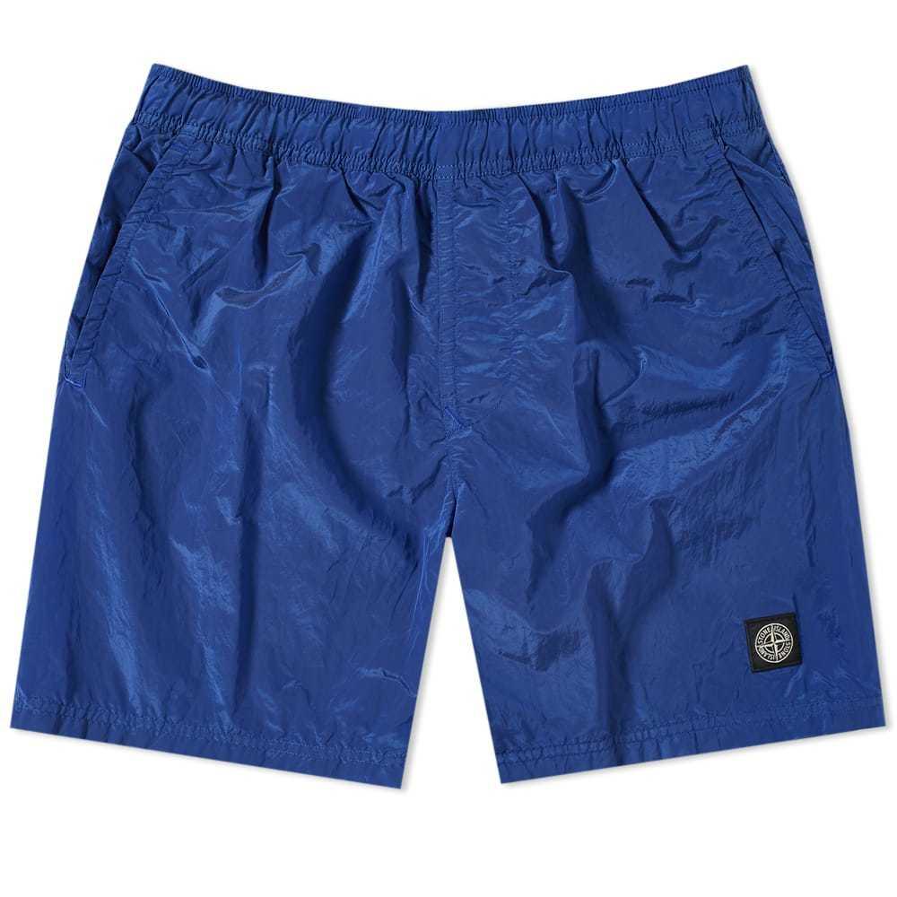 Photo: Stone Island Nylon Metal Patch Logo Swim Short Blue
