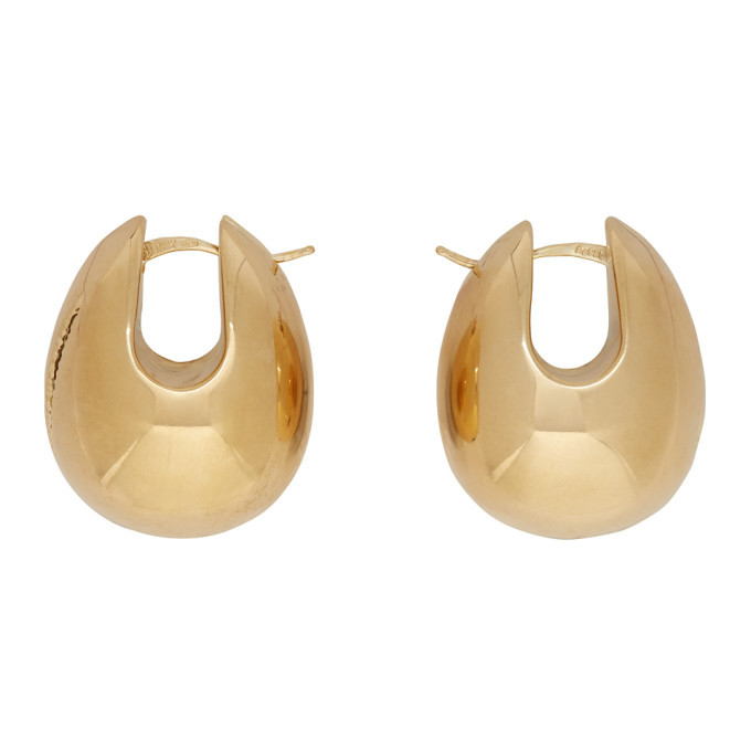 Photo: Bottega Veneta Gold Oversized Egg Earrings