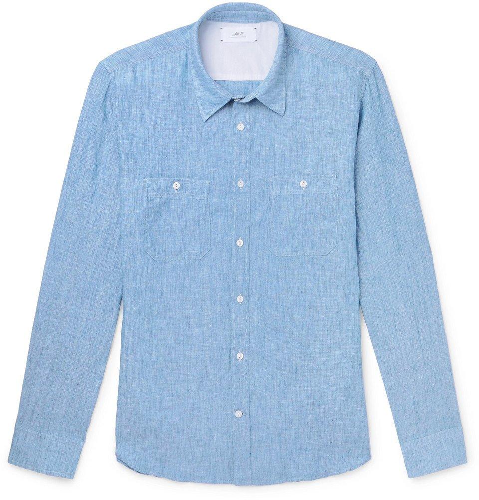 Photo: Mr P. - Linen Shirt - Blue