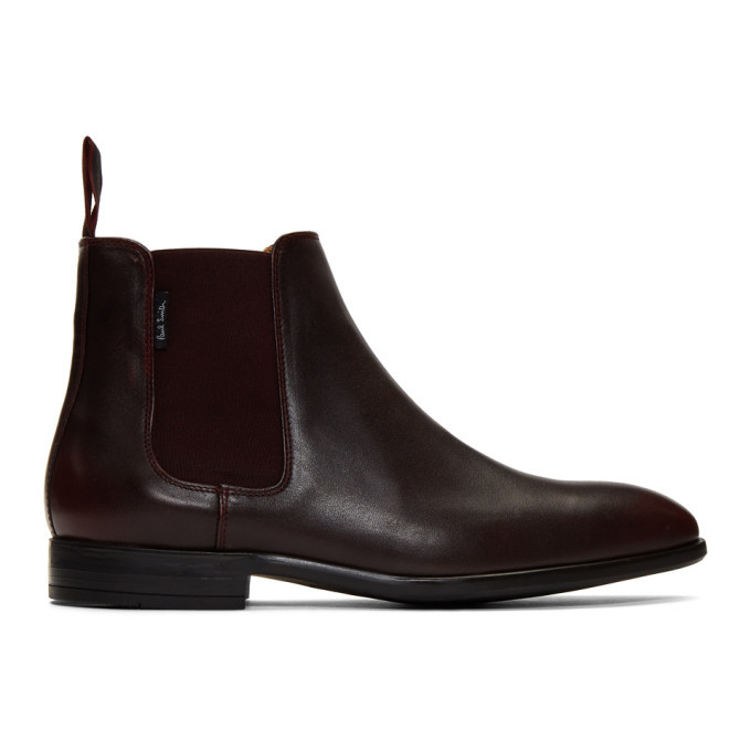 Photo: PS by Paul Smith Burdundy Gerald Chelsea Boots