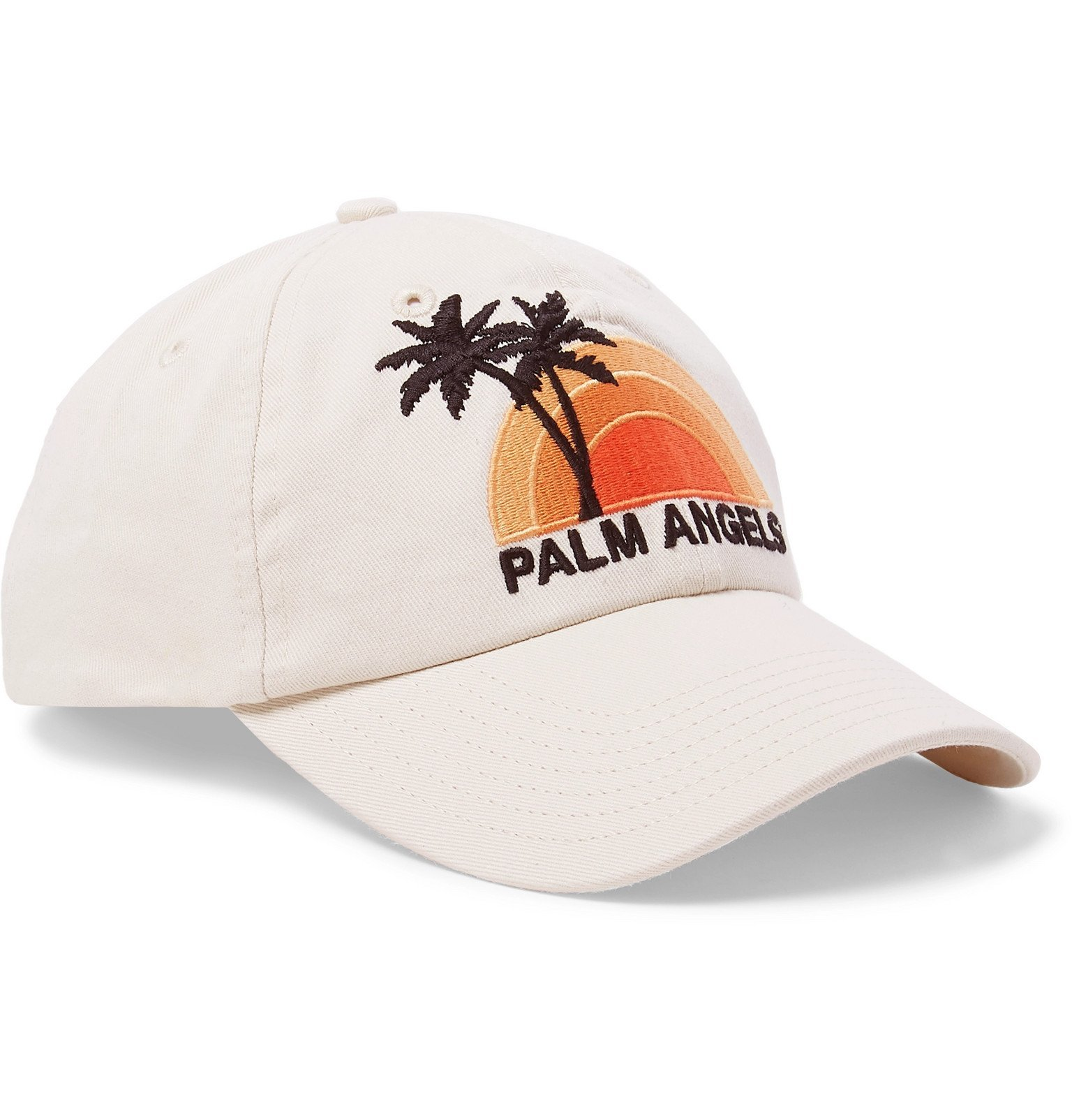 Photo: Palm Angels - Logo-Embroidered Cotton-Twill Baseball Cap - White