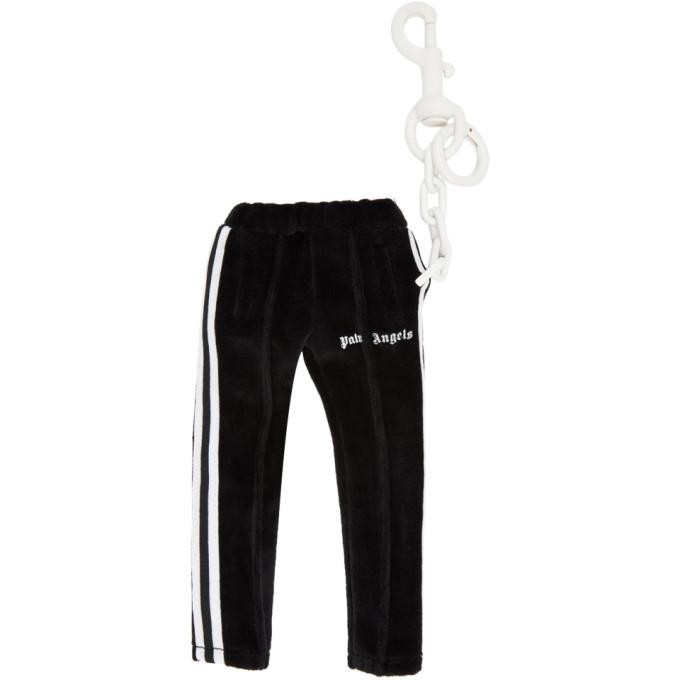 Photo: Palm Angels Black Mini Track Pants Keychain