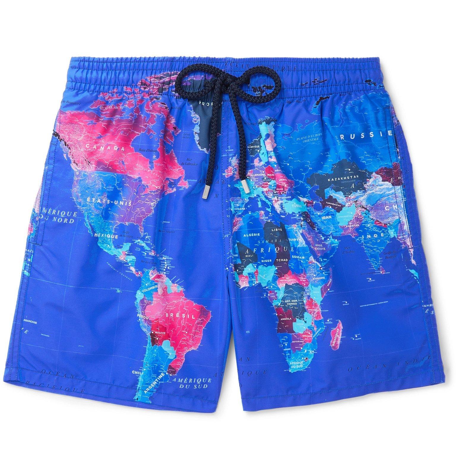 Photo: Vilebrequin - Moorea Mid-Length Printed Swim Shorts - Blue