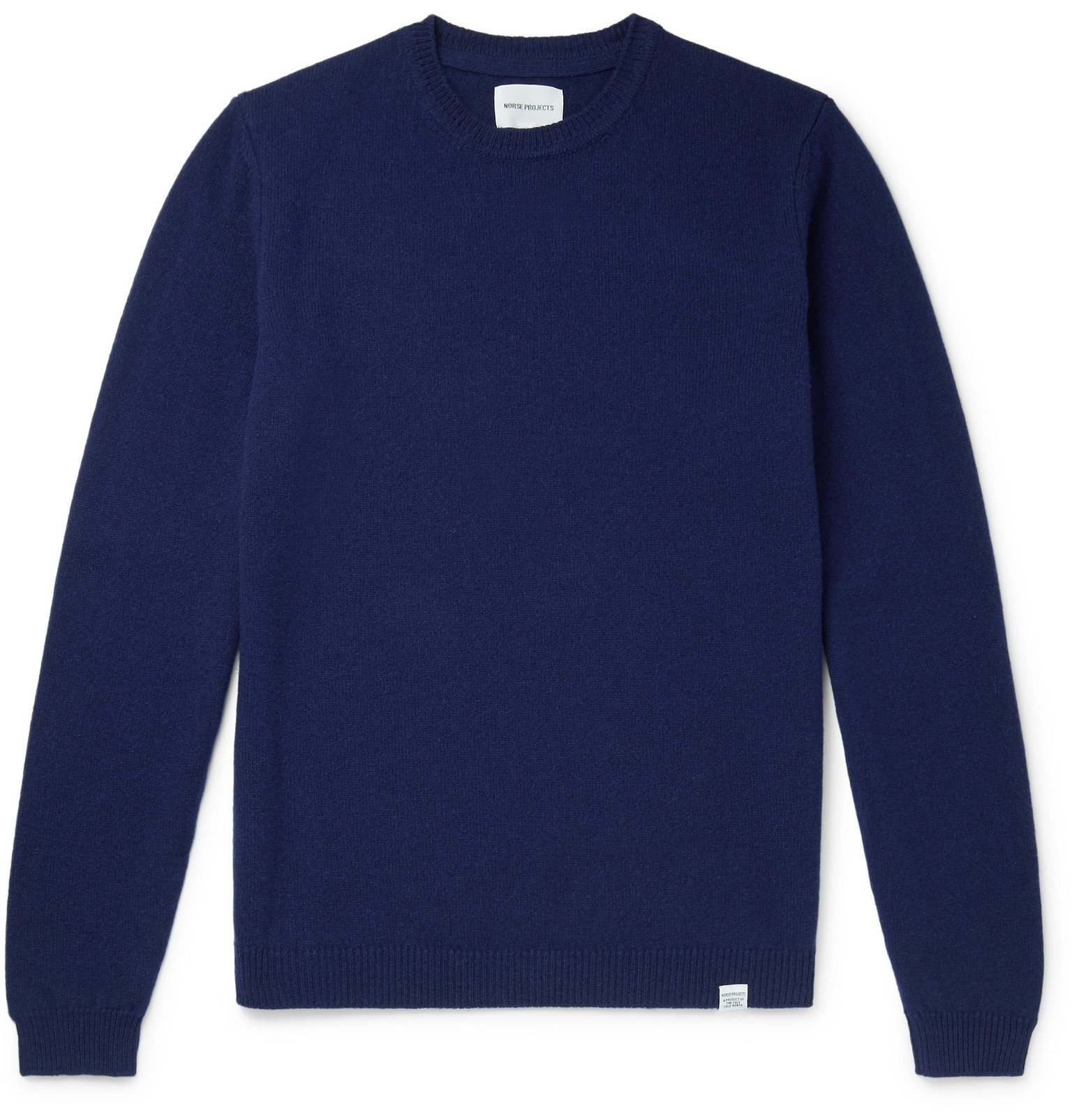 Photo: Norse Projects - Sigfred Mélange Brushed-Wool Sweater - Blue