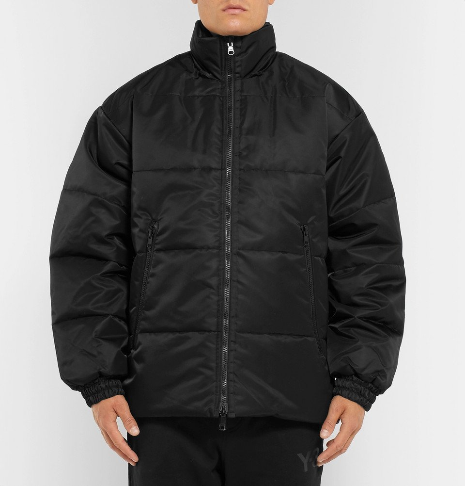 Y-3 - Oversized Reversible Logo-Detailed Quilted Shell Jacket - Black