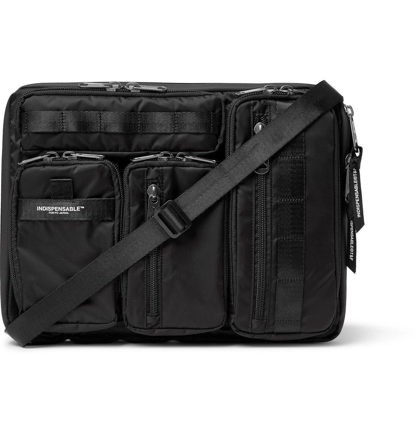 Photo: Indispensable - Grosgrain-Trimmed ECONYL Laptop Case - Black