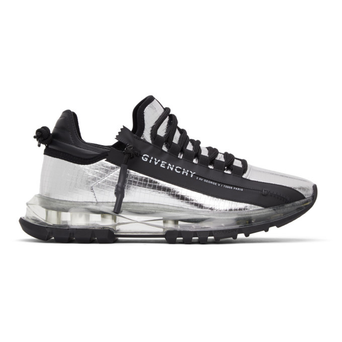 Photo: Givenchy Silver Spectre Zip Low Sneakers