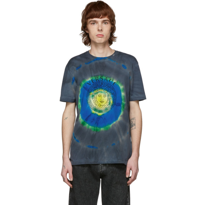 Photo: Versace Green and Multicolor Tie-Dye Medusa T-Shirt