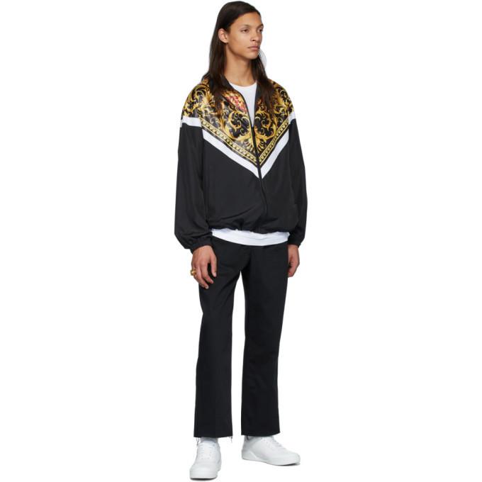 Versace Black and Gold Le Pop Classique Track Jacket