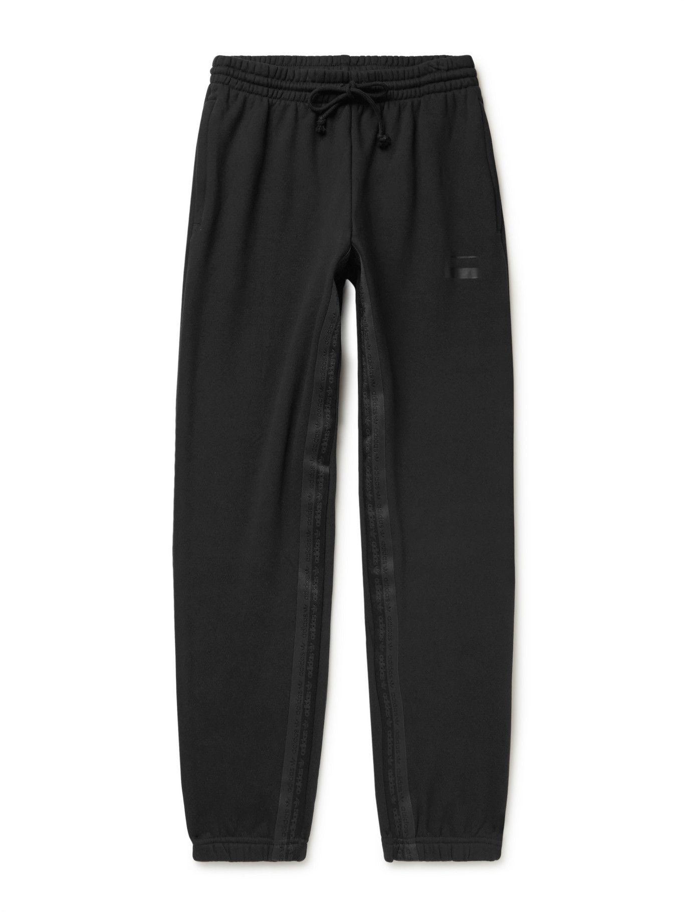 Photo: adidas Originals - R.Y.V. Tapered Webbing-Trimmed Cotton-Jersey Sweatpants - Black