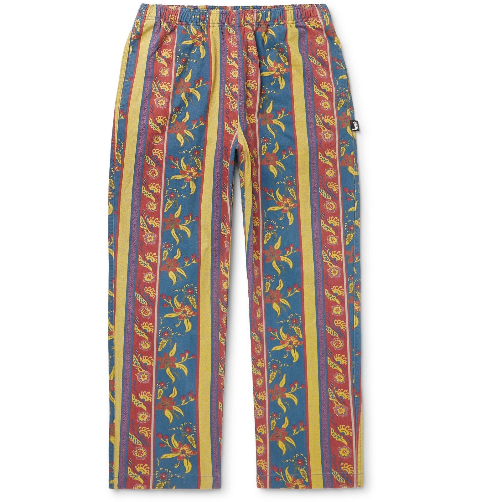 Photo: Stüssy - Tapered Printed Cotton-Twill Trousers - Blue