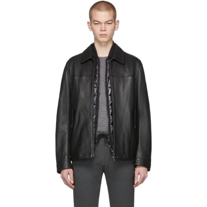 Photo: Boss Black Leather Mupton Jacket