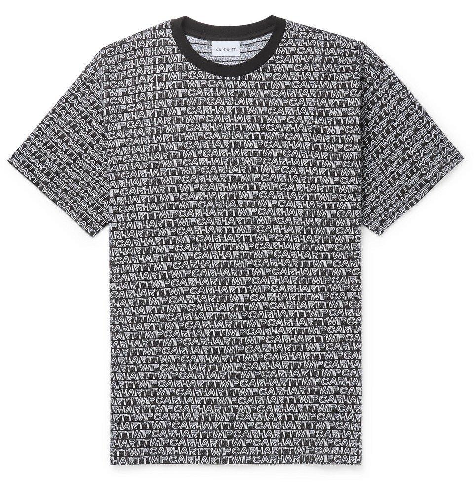 Photo: Carhartt WIP - Logo-Jacquard Cotton T-Shirt - Black
