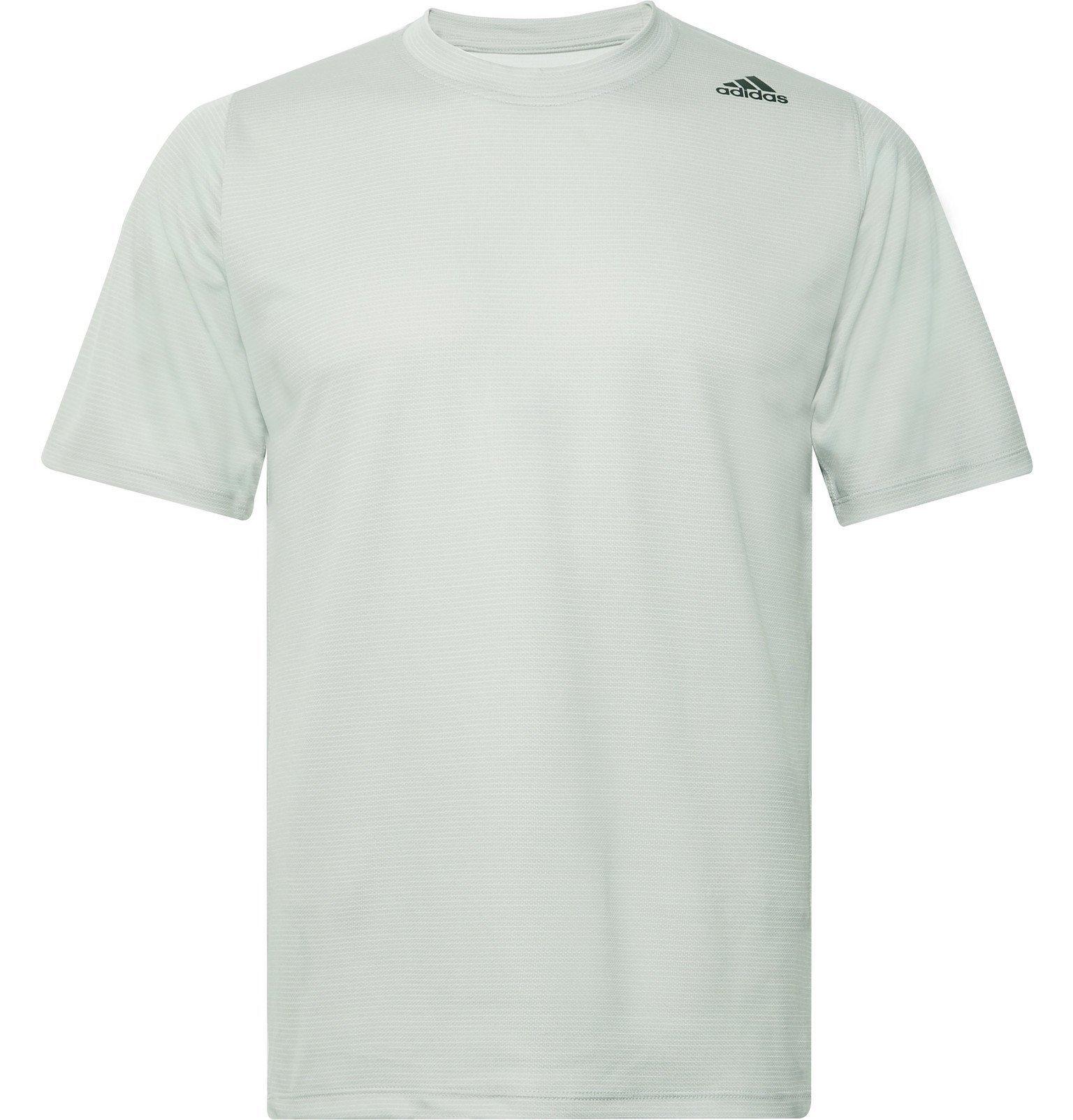 Adidas Sport - FreeLift Tech Striped Climalite T-Shirt - Gray