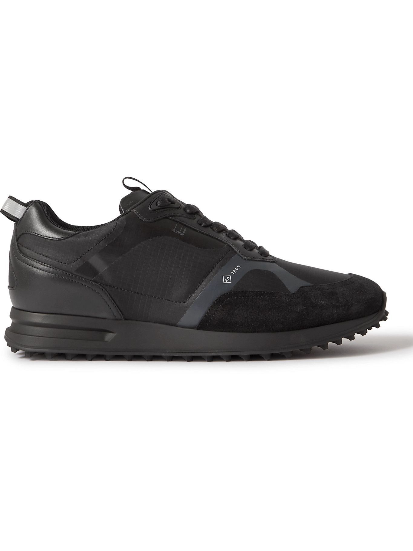 DUNHILL - Radial 2.0 Leather and Suede-Trimmed Ripstop Sneakers - Black