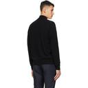 Dunhill Black Cashmere Zip Through Sweater
