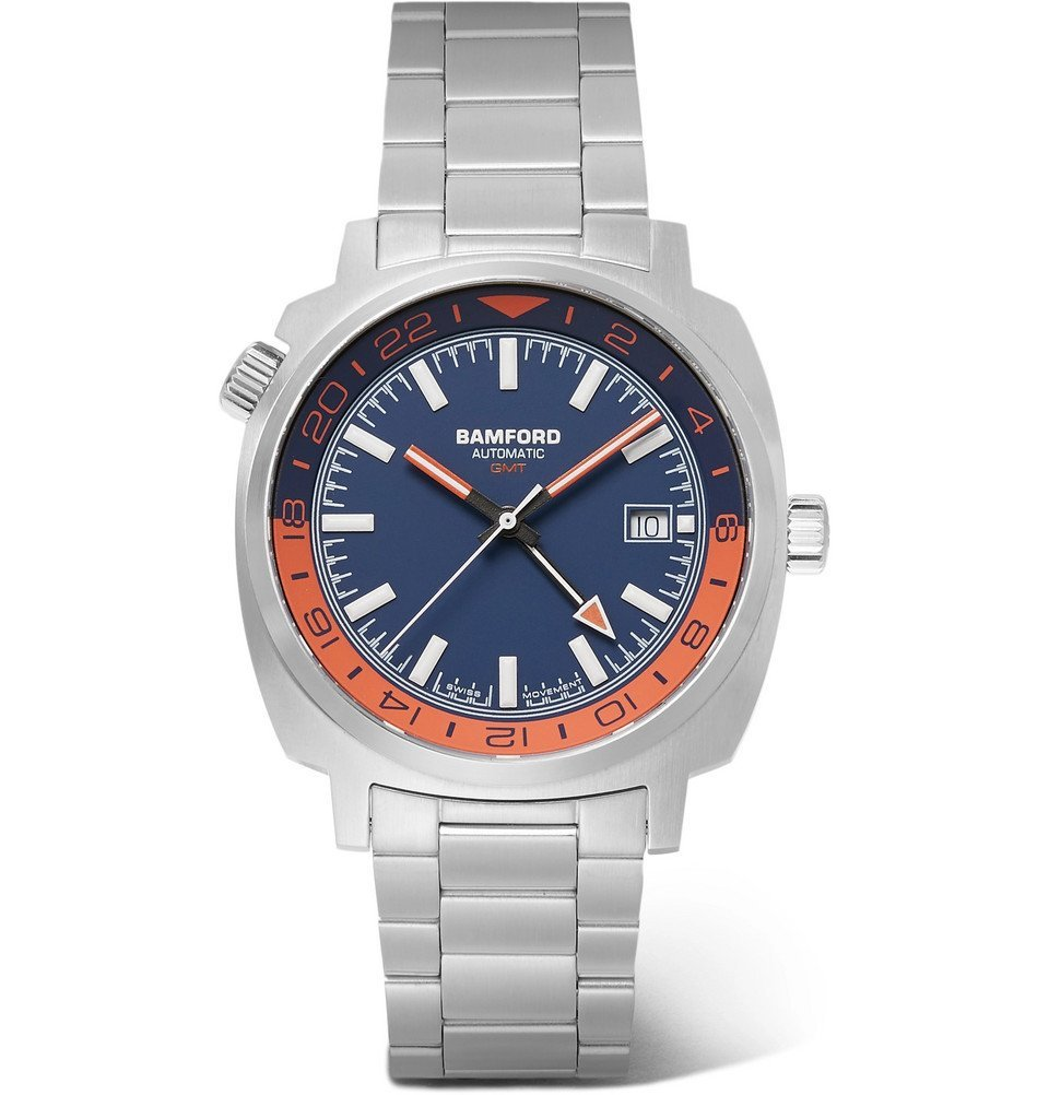 Photo: Bamford Watch Department - GMT Automatic 40mm Stainless Steel Watch - Blue