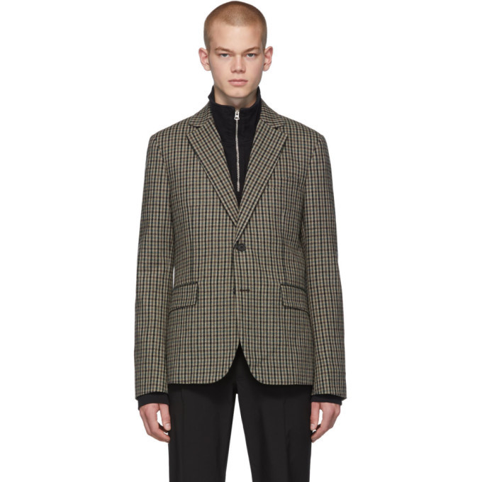 Photo: Acne Studios Beige and Brown Vichy Check Blazer