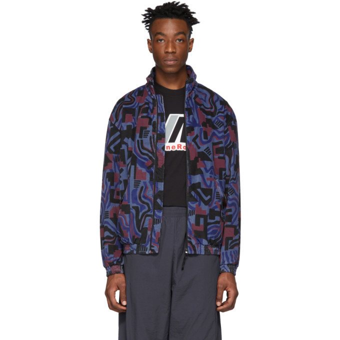 NAPA by Martine Rose Blue and Burgundy Issarbe Jacket